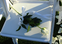 A white rose to honor a deceased mother or father